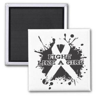 Fight Like A Girl Splatter - Retinoblastoma 2 Inch Square Magnet