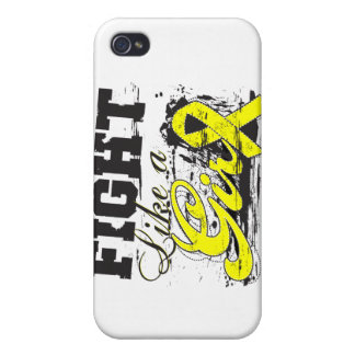 Fight Like a Girl Spray Paint - Bladder Cancer iPhone 4/4S Cover