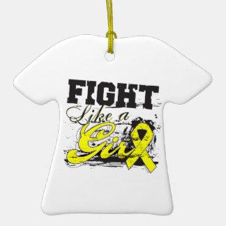 Fight Like a Girl Spray Paint - Bladder Cancer Ornament
