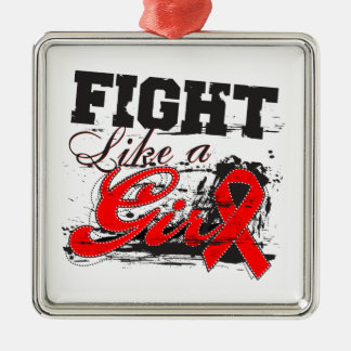 Fight Like a Girl Spray Paint - Blood Cancer Christmas Tree Ornament