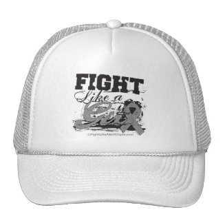 Fight Like a Girl Spray Paint - Brain Cancer Trucker Hat