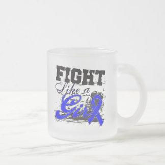 Fight Like a Girl Spray Paint - Colon Cancer Coffee Mugs