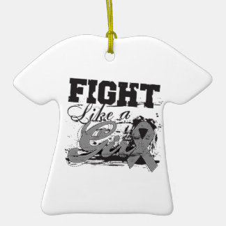 Fight Like a Girl Spray Paint - Diabetes Double-Sided T-Shirt Ceramic Christmas Ornament