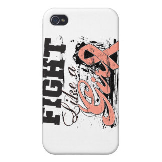 Fight Like a Girl Spray Paint - Endometrial Cancer Cover For iPhone 4