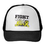 Fight Like a Girl Spray Paint - Endometriosis Trucker Hats