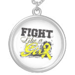 Fight Like a Girl Spray Paint - Endometriosis Custom Jewelry