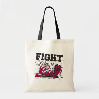 Fight Like a Girl Spray Paint Head and Neck Cancer Bags