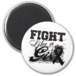 Fight Like a Girl Spray Paint - Melanoma Fridge Magnets