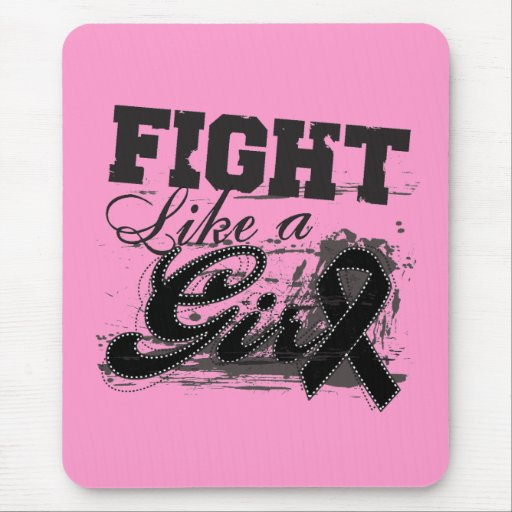 Fight Like a Girl Spray Paint - Melanoma Mouse Pad