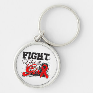 Fight Like a Girl Spray Paint - Stroke Disease Key Chains