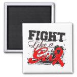 Fight Like a Girl Spray Paint - Stroke Disease Fridge Magnet