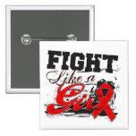 Fight Like a Girl Spray Paint - Stroke Disease Pin