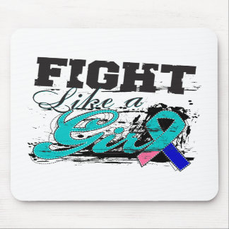 Fight Like a Girl Spray Paint - Thyroid Cancer Mousepads