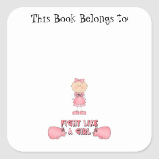 Fight Like A Girl Square Sticker