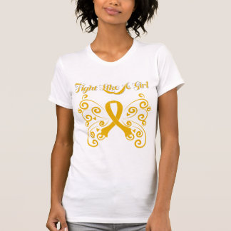 Fight Like A Girl Stylish Appendix Cancer T Shirts
