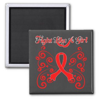 Fight Like A Girl Stylish Blood Cancer Magnet