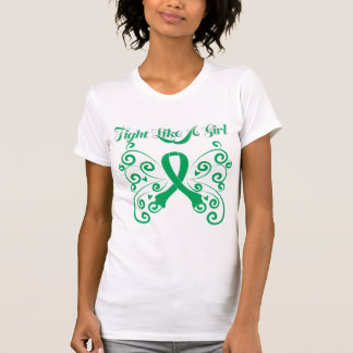 Fight Like A Girl Stylish Butterfly Liver Disease T Shirt
