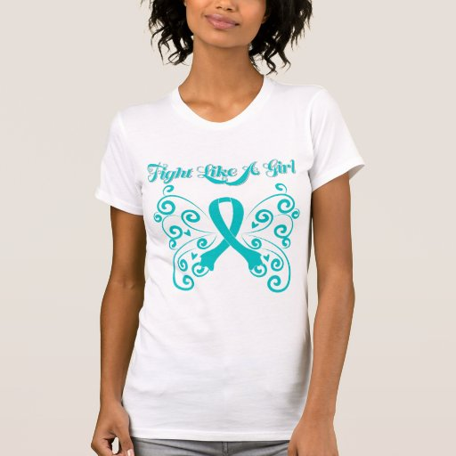Fight Like A Girl Stylish Butterfly PCOS T-shirt
