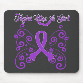 Fight Like A Girl Stylish Butterfly Sarcoidosis Mouse Pad