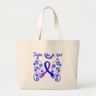 Fight Like A Girl Stylish Childhood Stroke Tote Bag