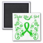 Fight Like A Girl Stylish Kidney Cancer Refrigerator Magnet