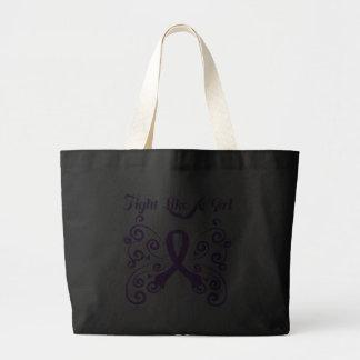 Fight Like A Girl Stylish Leiomyosarcoma Jumbo Tote Bag