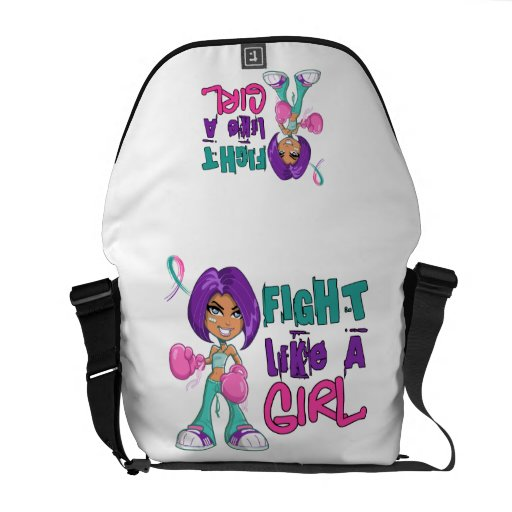 Fight Like a Girl Thyroid Cancer 42.8.png Commuter Bag