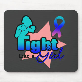 Fight Like a Girl - Thyroid Cancer Mouse Pad