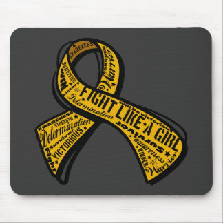 Fight Like a Girl Watermark - Appendix Cancer Mousepads