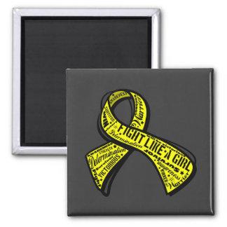 Fight Like a Girl Watermark - Bladder Cancer Fridge Magnet