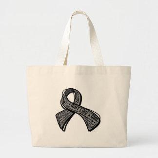 Fight Like a Girl Watermark - Brain Tumor Bag