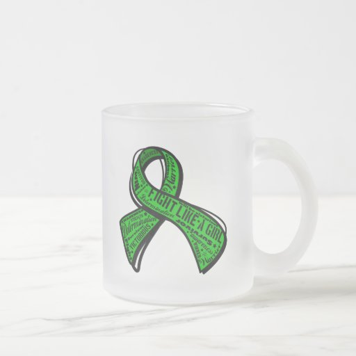 Fight Like a Girl Watermark - Cerebral Palsy 10 Oz Frosted Glass Coffee Mug