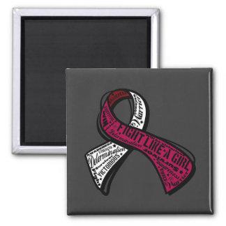 Fight Like a Girl Watermark - Head Neck Cancer Fridge Magnets