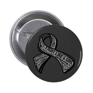 Fight Like a Girl Watermark - Parkinson's Disease 2 Inch Round Button