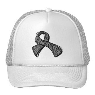 Fight Like a Girl Watermark - Parkinson's Disease Mesh Hat
