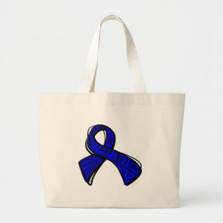 Fight Like a Girl Watermark - Rectal Cancer Canvas Bags