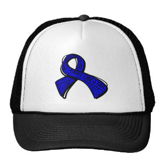 Fight Like a Girl Watermark - Rectal Cancer Mesh Hats