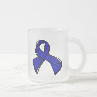Fight Like a Girl Watermark - Rectal Cancer Coffee Mugs