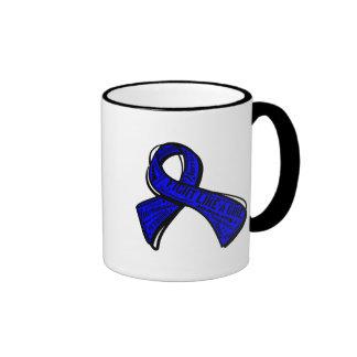 Fight Like a Girl Watermark - Rectal Cancer Mugs