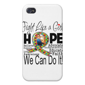 Fight Like a Girl We Can Do It - Autism Awareness Cases For iPhone 4