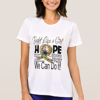 Fight Like a Girl We Can Do It - Autism Awareness Shirt