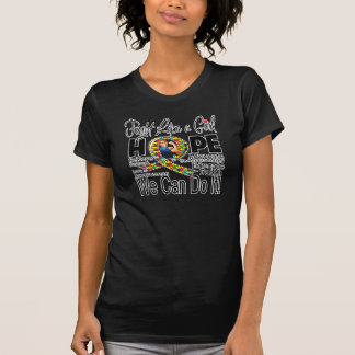 Fight Like a Girl We Can Do It - Autism Awareness T-shirt