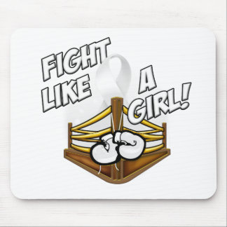 Fight Like A Girl White Mouse Pad