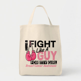 Fight Like A Guy Breast Cancer Canvas Bag