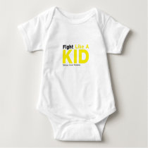 Fight Like A Kid Childhood Cancer Awareness Baby Bodysuit