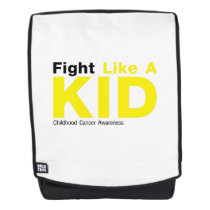 Fight Like A Kid Childhood Cancer Awareness Backpack