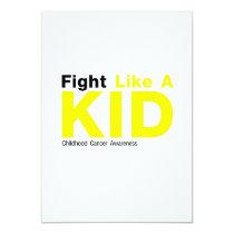 Fight Like A Kid Childhood Cancer Awareness Card