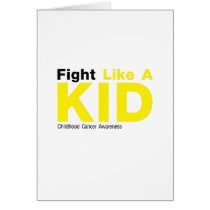 Fight Like A Kid Childhood Cancer Awareness Card