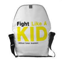 Fight Like A Kid Childhood Cancer Awareness Courier Bag