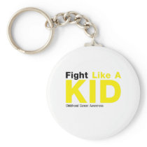 Fight Like A Kid Childhood Cancer Awareness Keychain